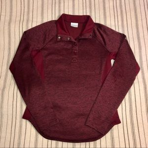 Columbia • Maroon 1/4 Button-Down Pullover
